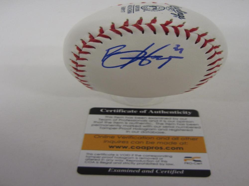 BRYCE HARPER SIGNED AUTOGRAPHED BASEBALL COA PROS CERTIFIED
