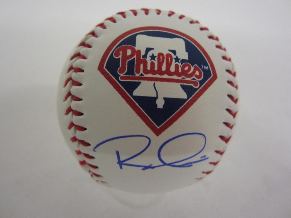 RHYS HOSKINS PHILLIES SIGNED AUTOGRAPHED BASEBALL COA PROS CERTIFIED