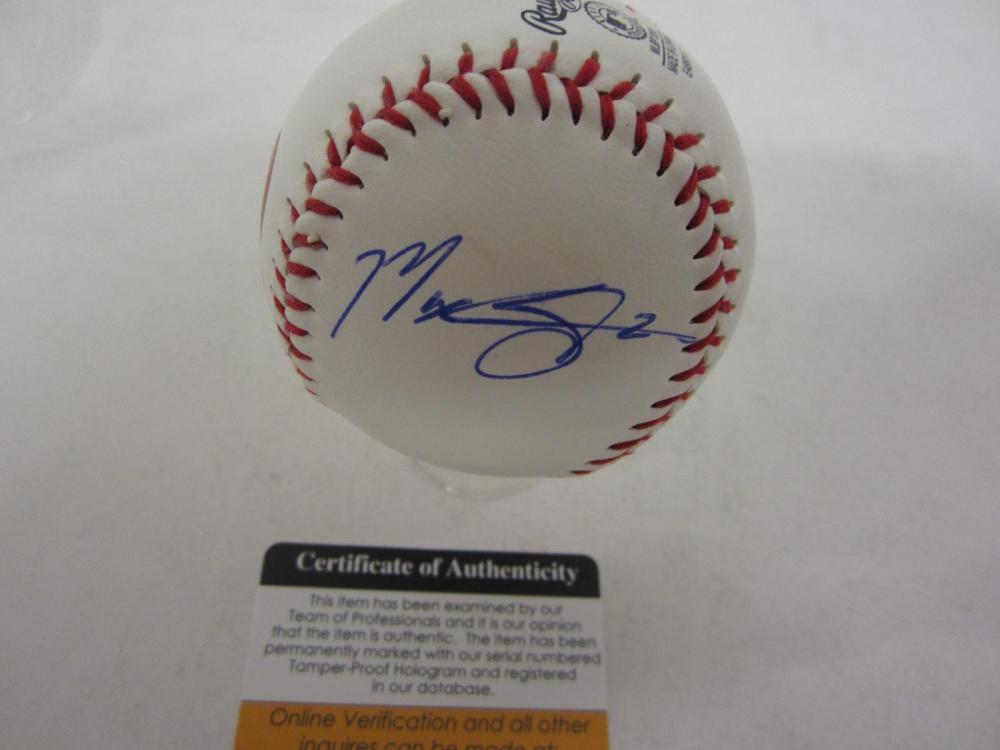 MAX SCHERZER NATIONALS SIGNED AUTOGRAPHED BASEBALL COA PROS CERTIFIED