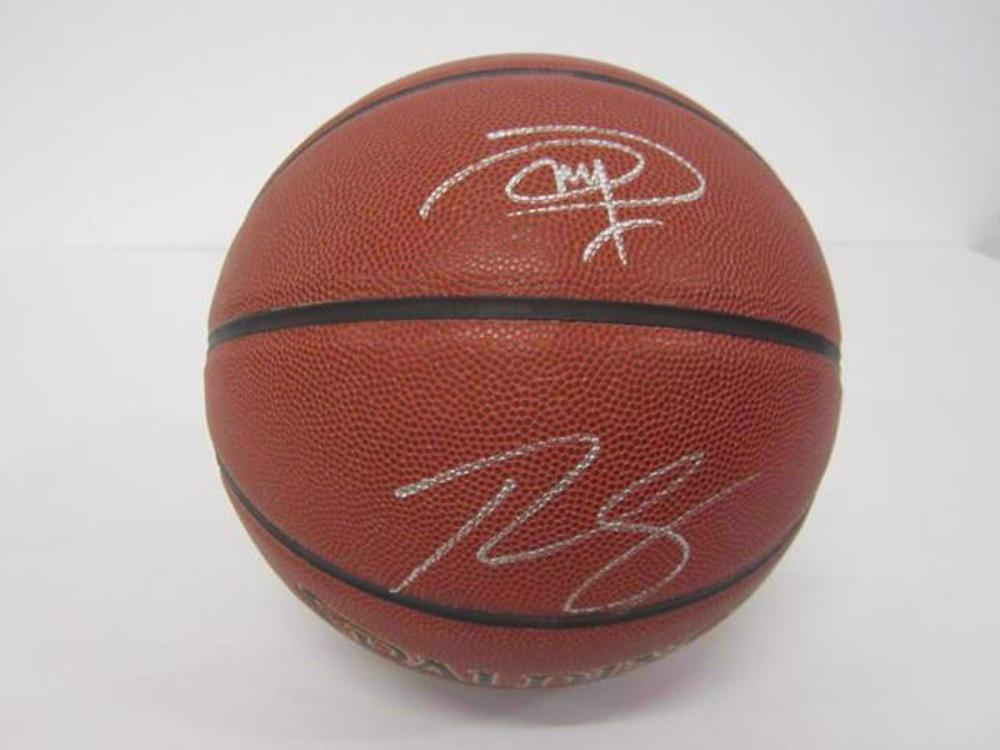 Ben Simmons & Joel Embiid Dual Signed Autographed Basketball Certified COA