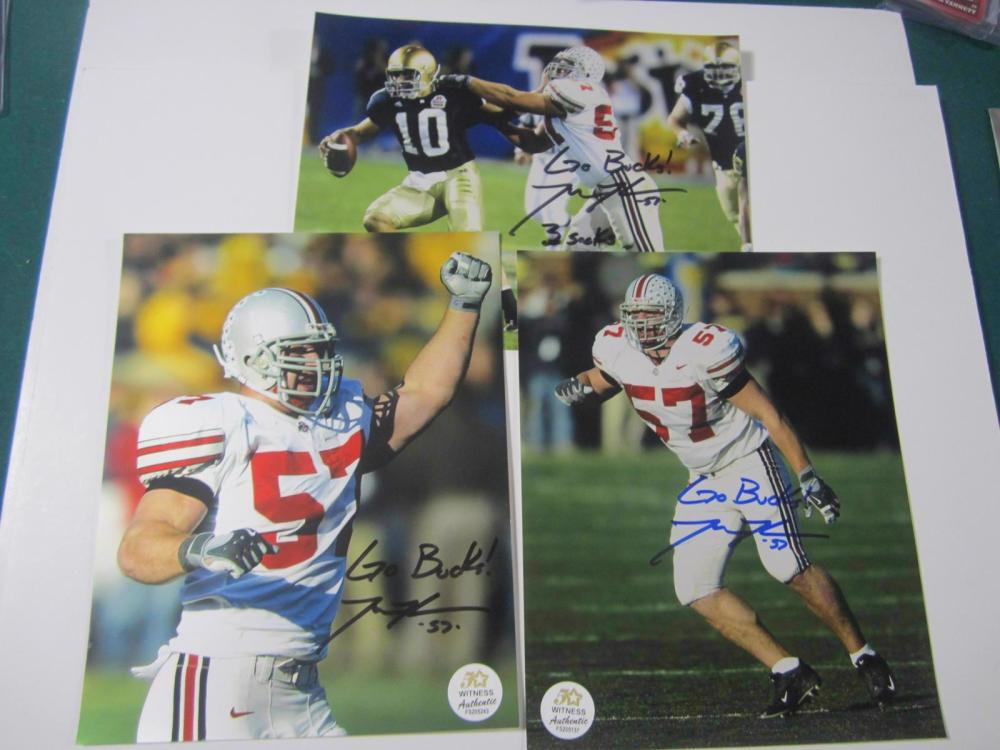 Mike Kudla Buckeyes signed autographed Lot of 3 8x10 Photo's Certified Coa