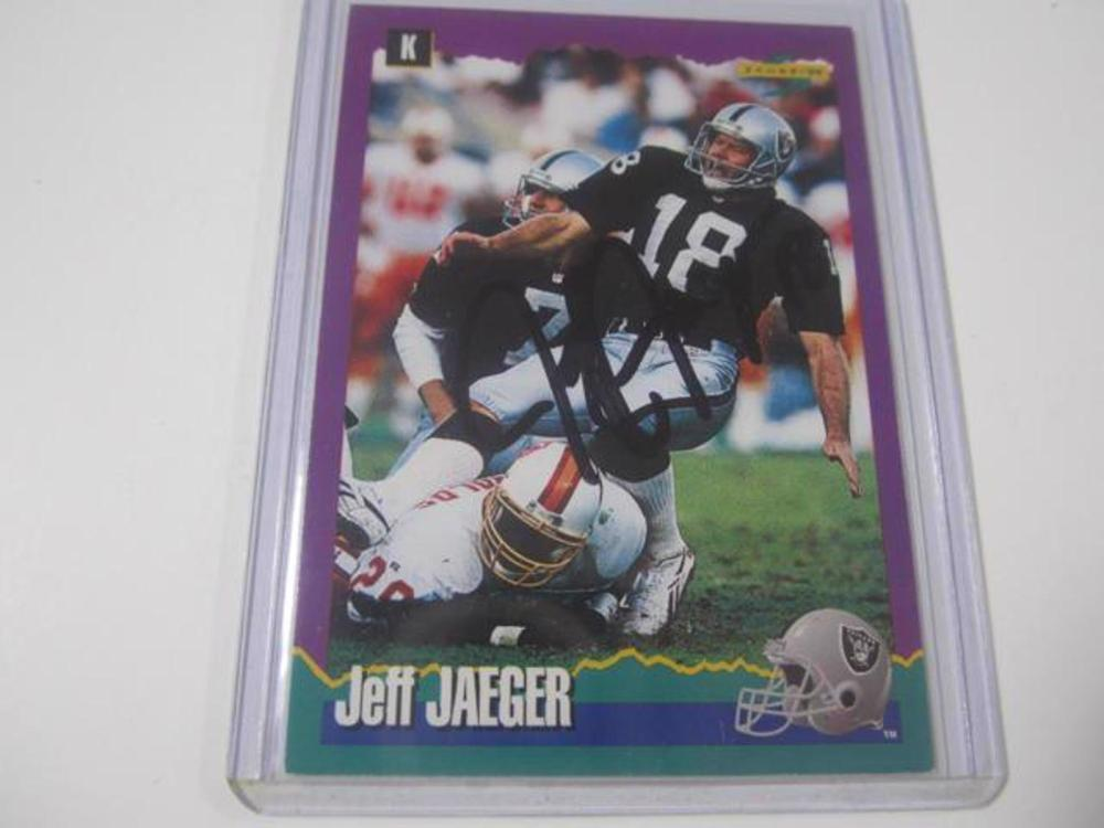 JEFF JAEGER RAIDERS SIGNED AUTOGRAPHED TRADING CARD FIVESTAR CERTIFIED HOLOGRAM