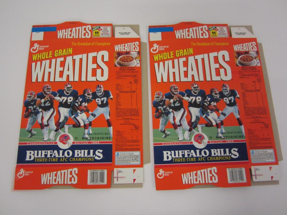 BUFFALO BILLS LOT OF 2 3 TIME AFC CHAMPIONS WHEATIES BOXES RARE