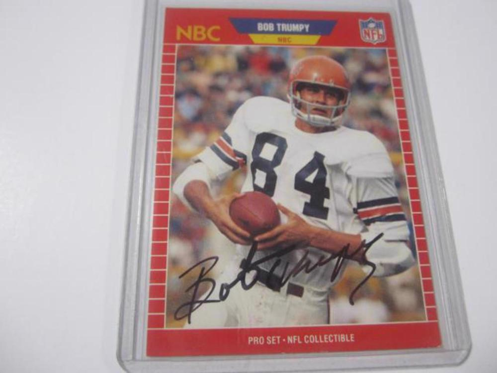 BOB TRUMPY BENGALS SIGNED AUTOGRAPHED TRADING CARD FIVESTAR CERTIFIED HOLOGRAM