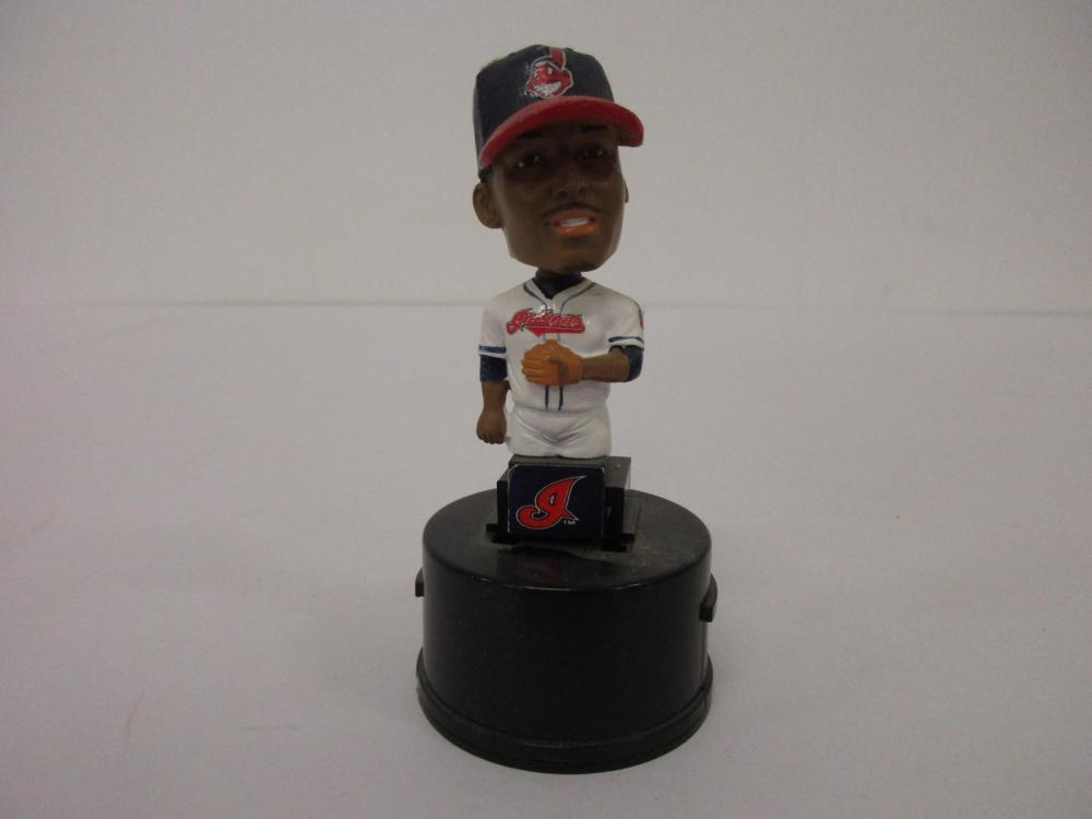 CC SABATHIA CLEVELAND INDIANS MINI BOBBLEHEAD WITH WINDOW CLING