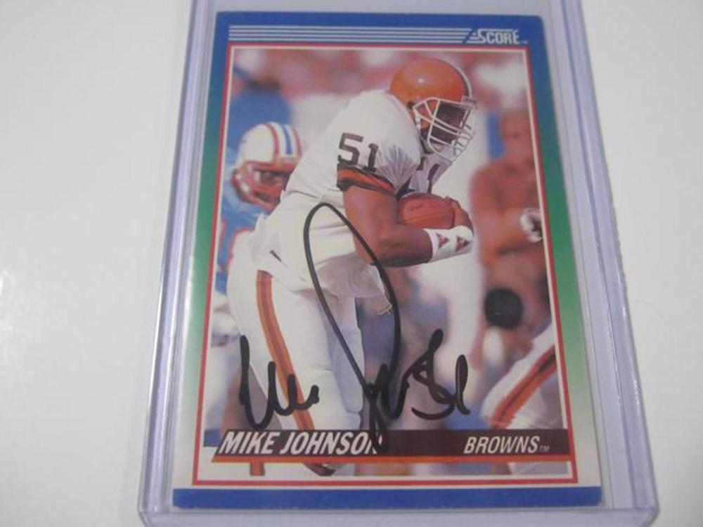 MIKE JOHNSON BROWNS SIGNED AUTOGRAPHED TRADING CARD FIVESTAR CERTIFIED HOLOGRAM