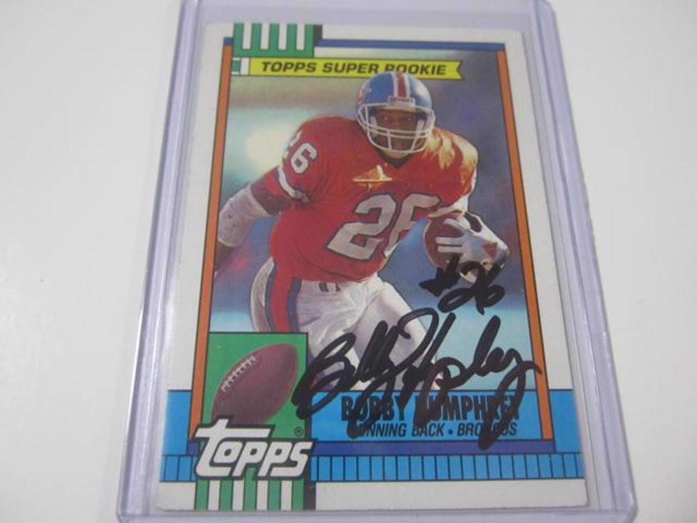 BOBBY HUMPHREY BRONCOS SIGNED AUTOGRAPHED TRADING CARD FIVESTAR CERTIFIED HOLOGRAM