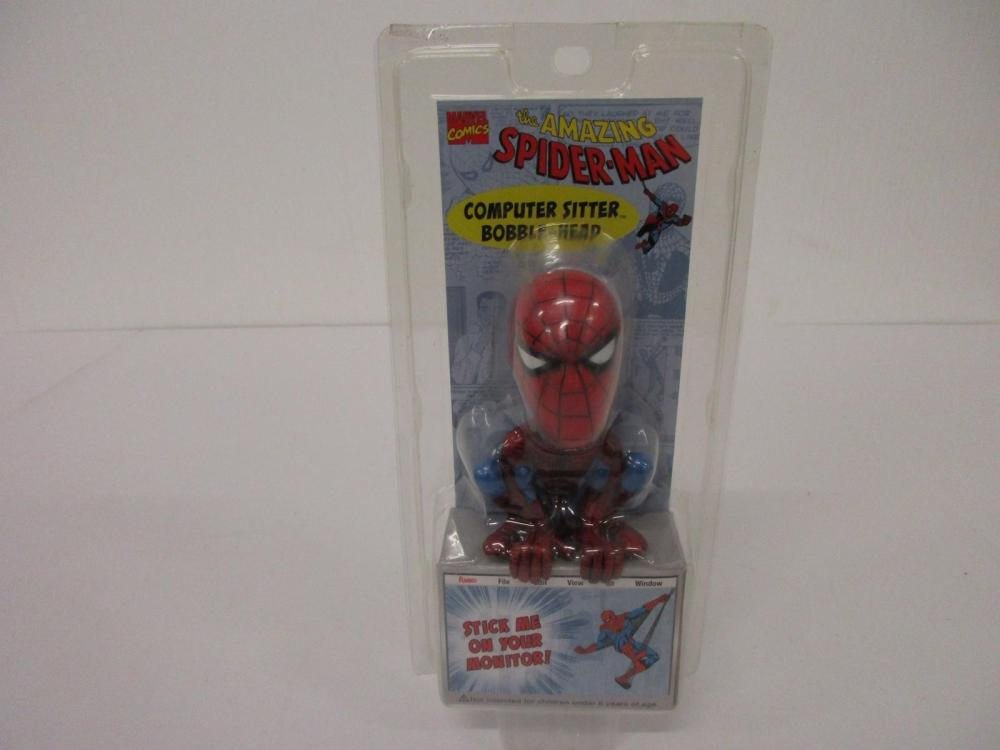 THE AMAZING SPIDER-MAN COMPUTER SITTER BOBBLE HEAD NEW IN BOX