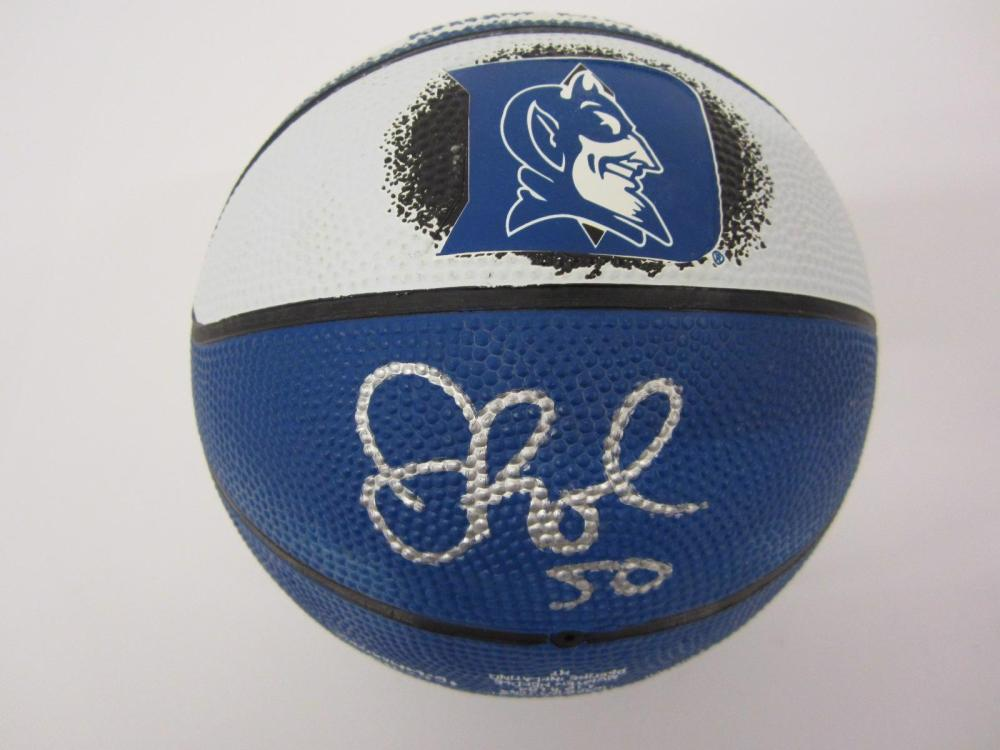 Justin Robinson Duke signed autographed Mini Basketball FIVESTAR Certified