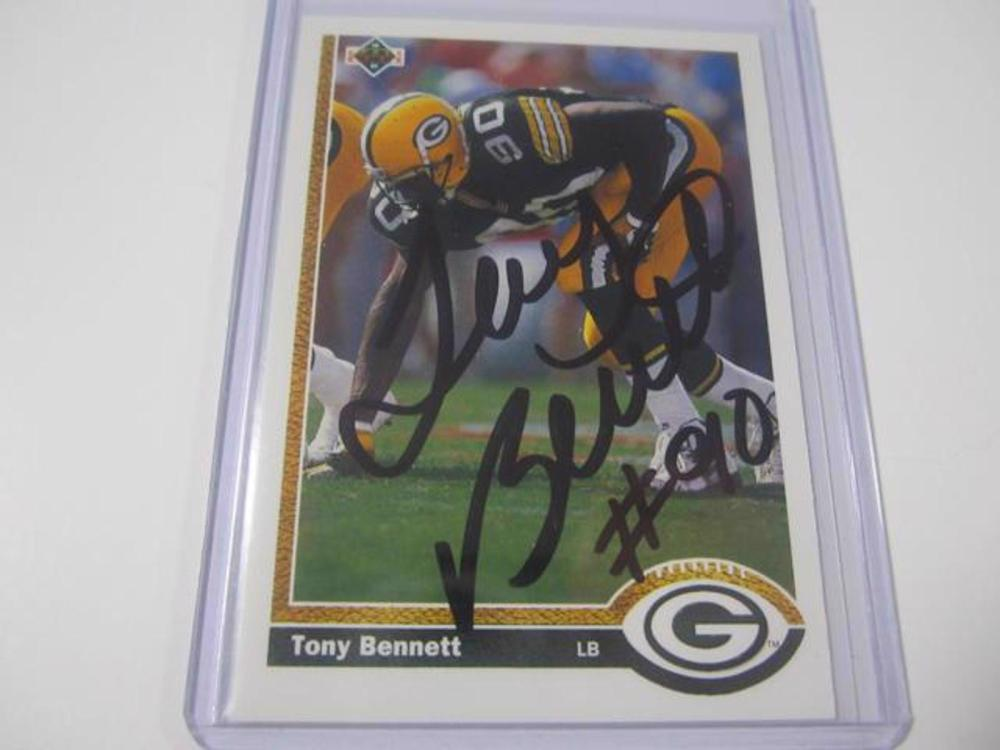 TONY BENNETT PACKERS SIGNED AUTOGRAPHED TRADING CARD FIVESTAR CERTIFIED HOLOGRAM