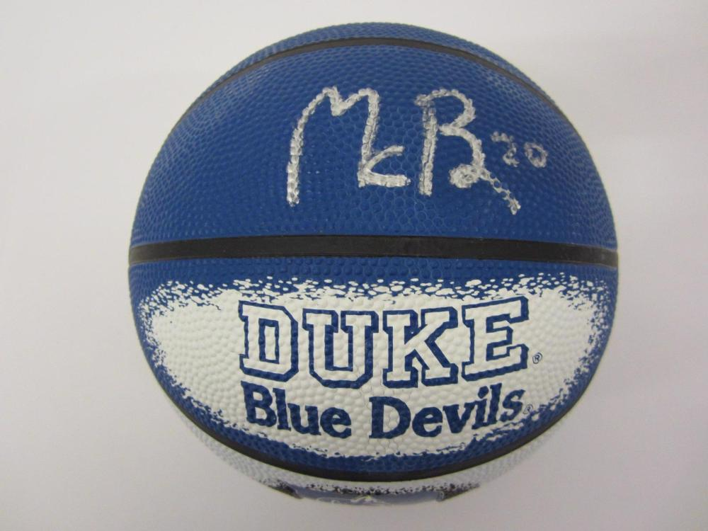 Marques Bolden Duke signed autographed Mini Basketball FIVESTAR Certified