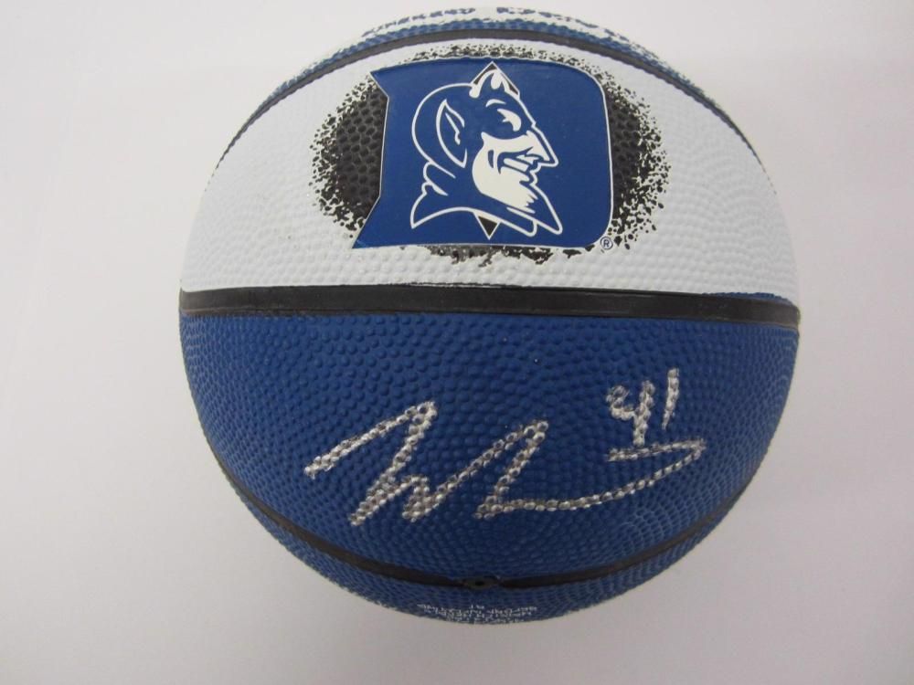 Jack White Duke signed autographed Mini Basketball FIVESTAR Certified