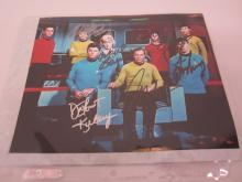 STAR TREK CAST MULTI SIGNED 8X10 PHOTO LEONARD NIMOY, WILLIAM SHATNER AND OTHERS CERTIFIED COA