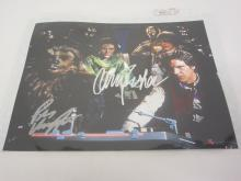 STAR WARS CAST MULTI SIGNED 8X10 PHOTO HARRISON FORD, CARRIE FISHER AND OTHERS CERTIFIED COA