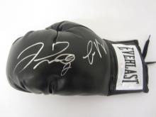 FLOYD MAYWEATHER, CONNOR MCGREGOR SIGNED AUTOGRAPHED BOXING GLOVE CERTIFIED PAASAA.COM