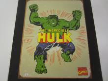 STAN LEE MARVEL SIGNED AUTOGRAPHED HULK METAL SIGN CERTIFIED PAASAA.COM