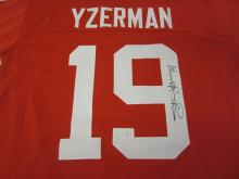 STEVE YZERMAN RED WINGS SIGNED AUTOGRAPHED JERSEY CERTIFIED PAASAA.COM
