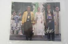 STAR WARS CAST SIGNED AUTOGRAPHED 8X10 PHOTO HARRISON FORD, MARK HAMILL AND OTHERS CERTIFIED COA