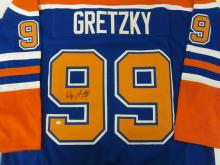 WAYNE GRETZKY OILERS SIGNED AUTOGRAPHED JERSEY CERTIFIED AAA COA