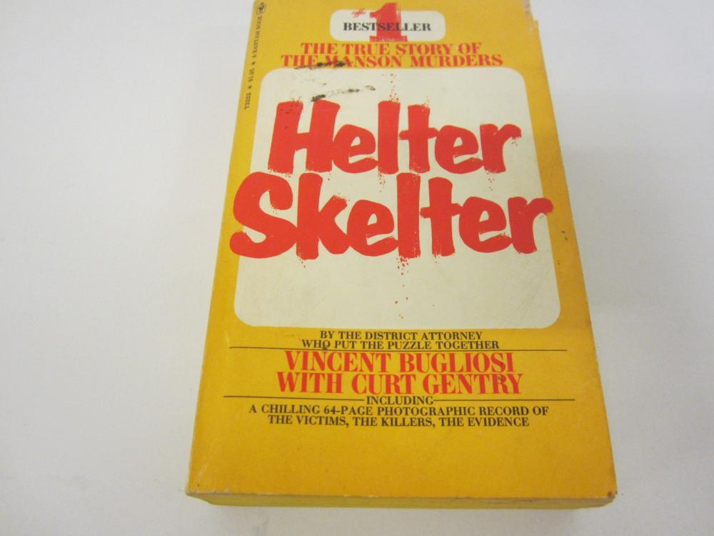 Helter Skelter Charles Manson Story Vincent Bugliosi paperback book