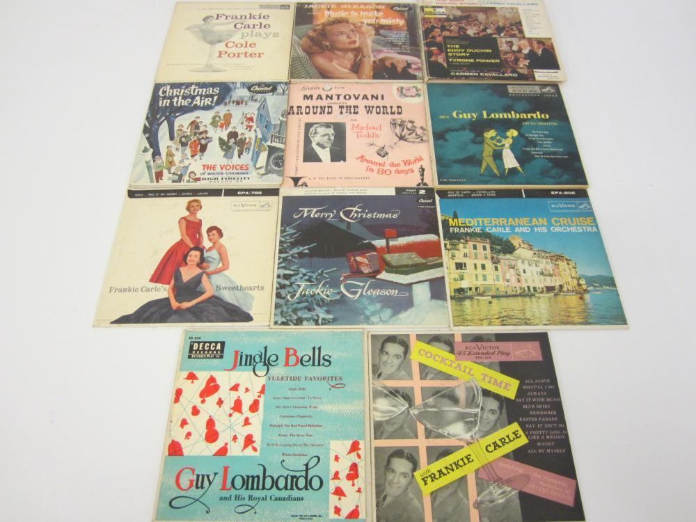Vintage lot of 11 records Jackie Gleason Guy Lonbardo & others 45rpm