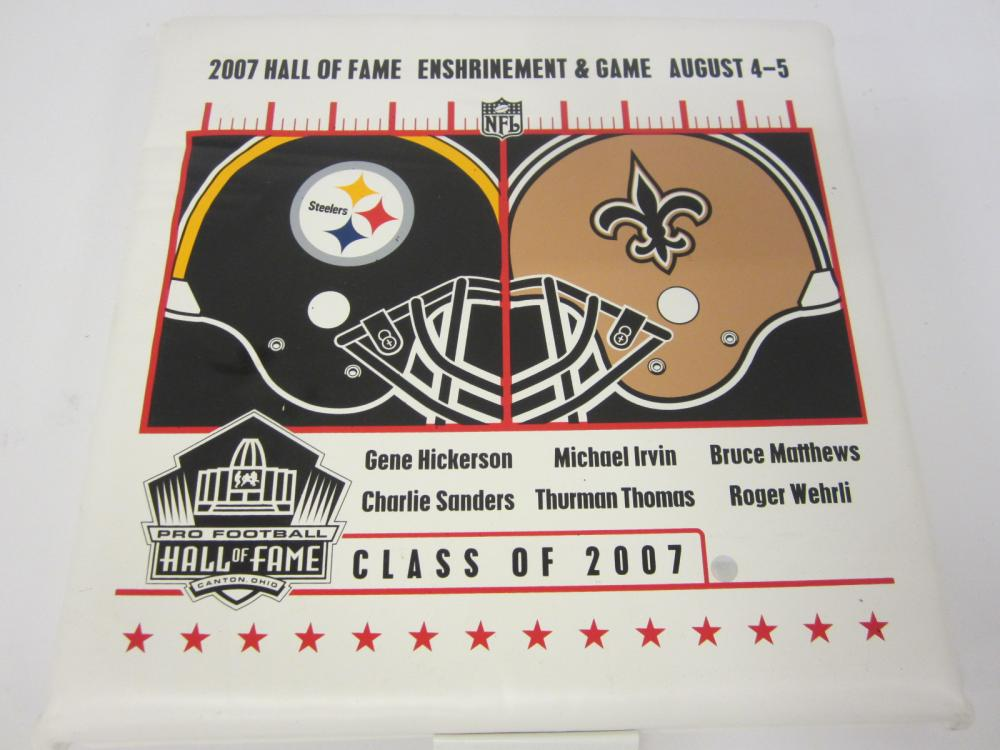 2007 Football Hall of Fame Enshrinement Game Michael Irvin Thurman Thomas