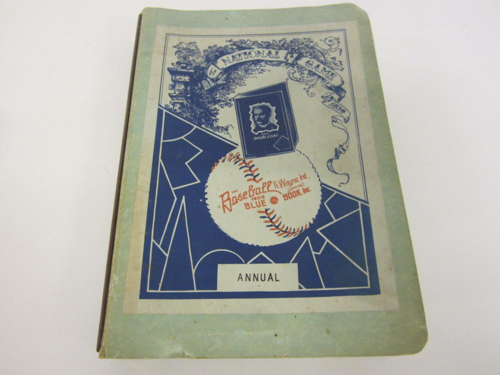 Vintage 1957 MLB baseball Official Annual Blue Book