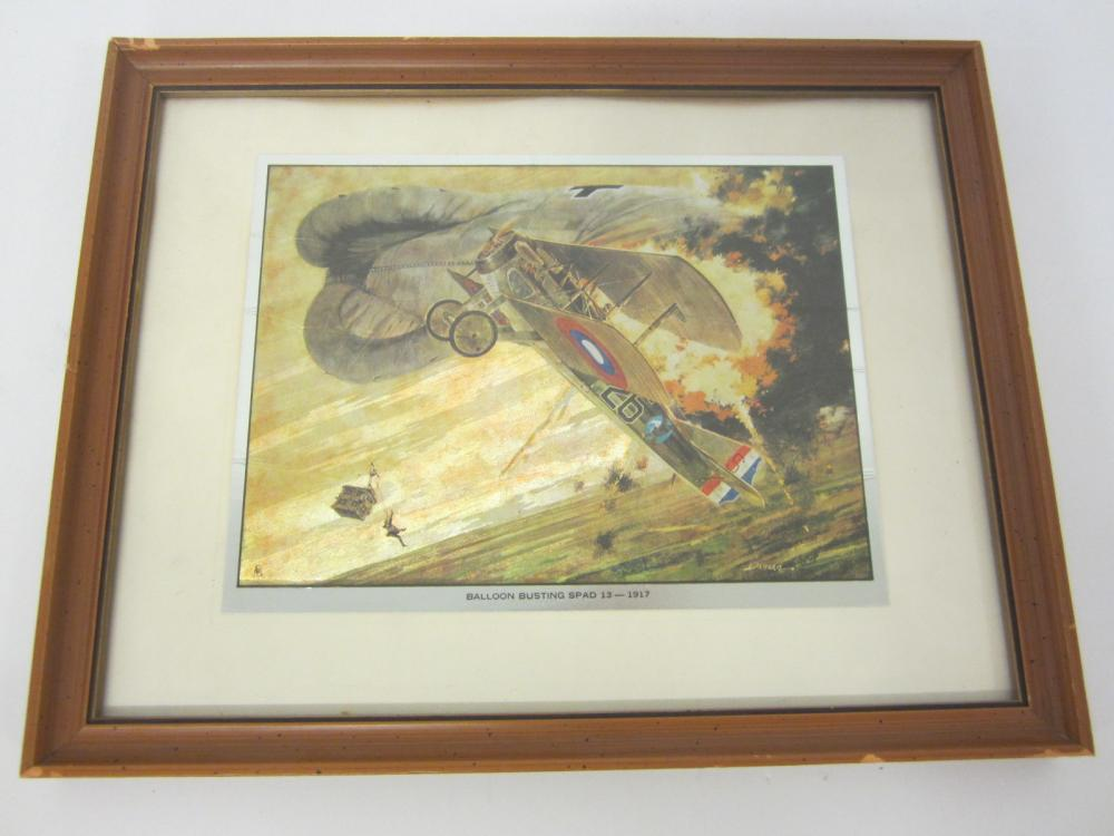Vintage Balloon Busting Spad 13 Framed matted 8x10 print