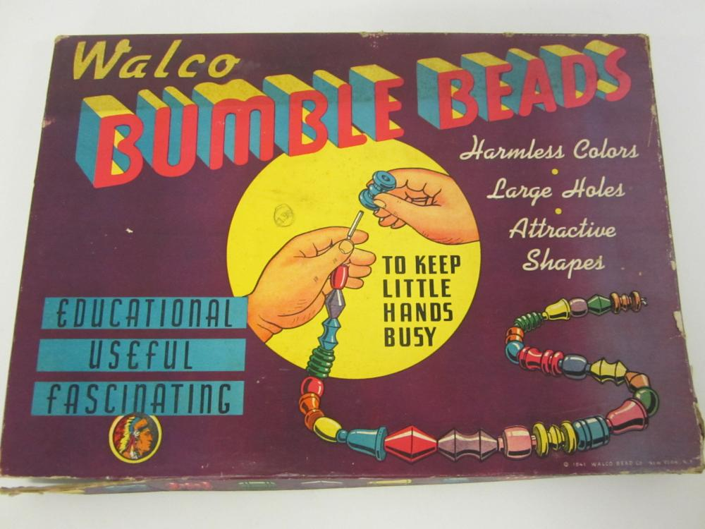 Vintage 1941 Walco Bumble Beads Kit in original package / box