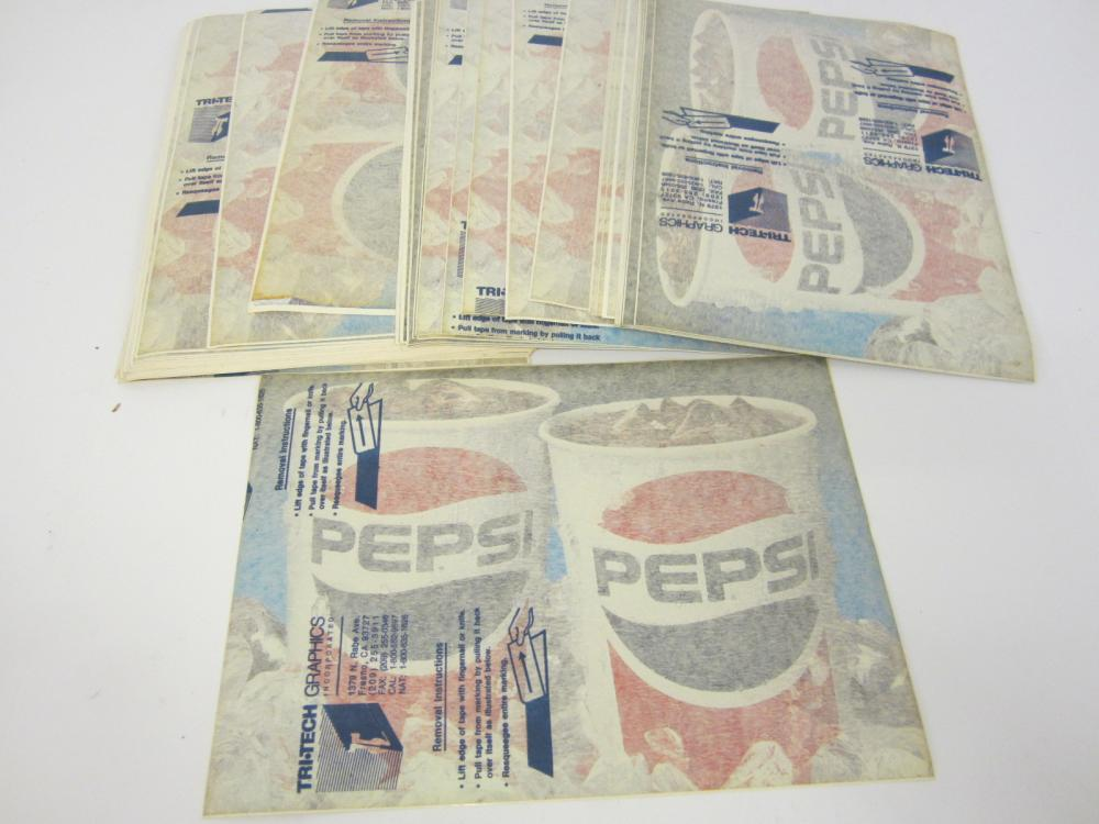 Vintage large lot of Pepsi Cola Decals / Stickers