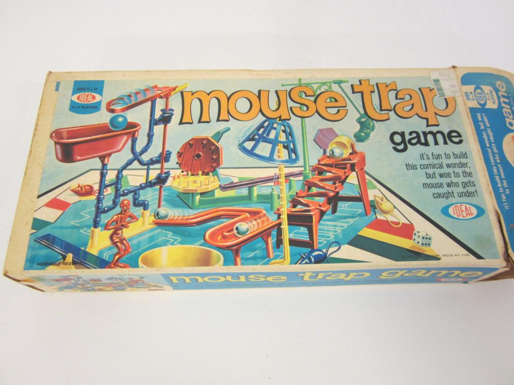Vintage Mouse Trap Game parts still in packages Original box