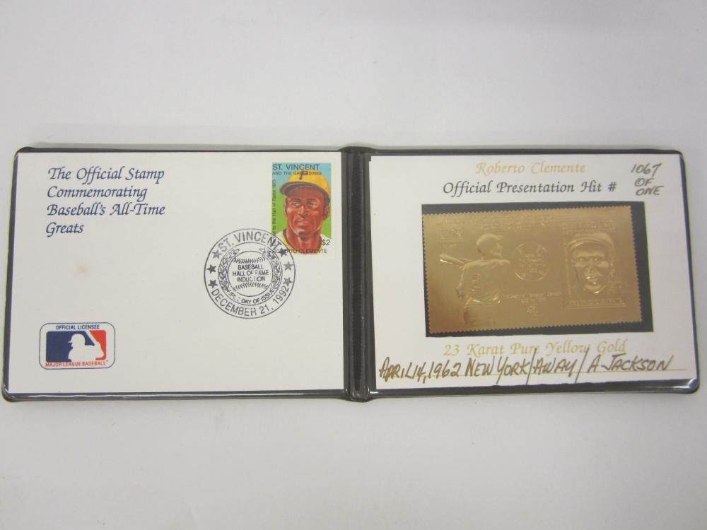 1992 Roberto Clemente Pittsburgh Pirates First day cover with Gold Stamp #d to 1067