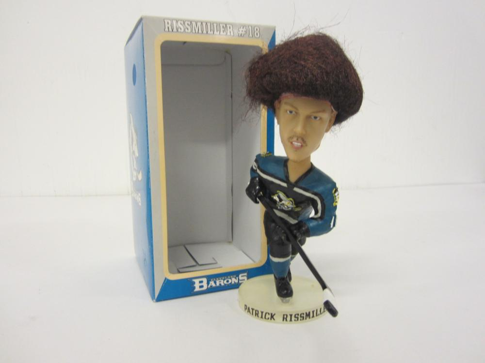 Patrick Rissmiller Cleveland Barons Hockey Real Hair bobblehead w/box