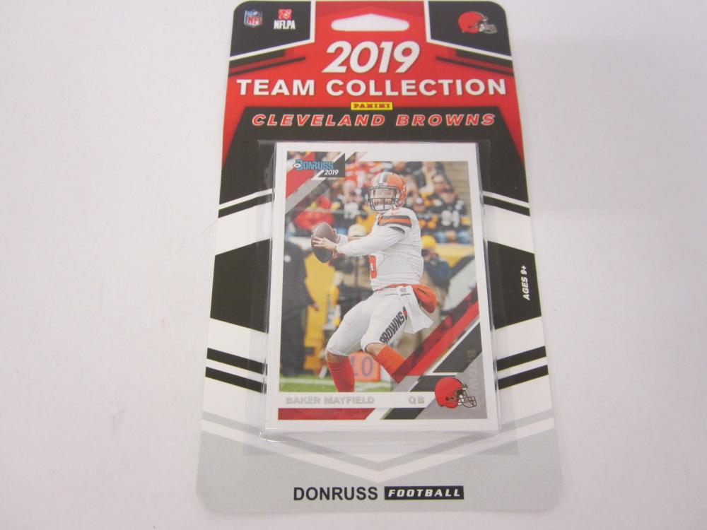 Baker Mayfield Cleveland Browns 2019 Panini Donruss Sealed Team Set