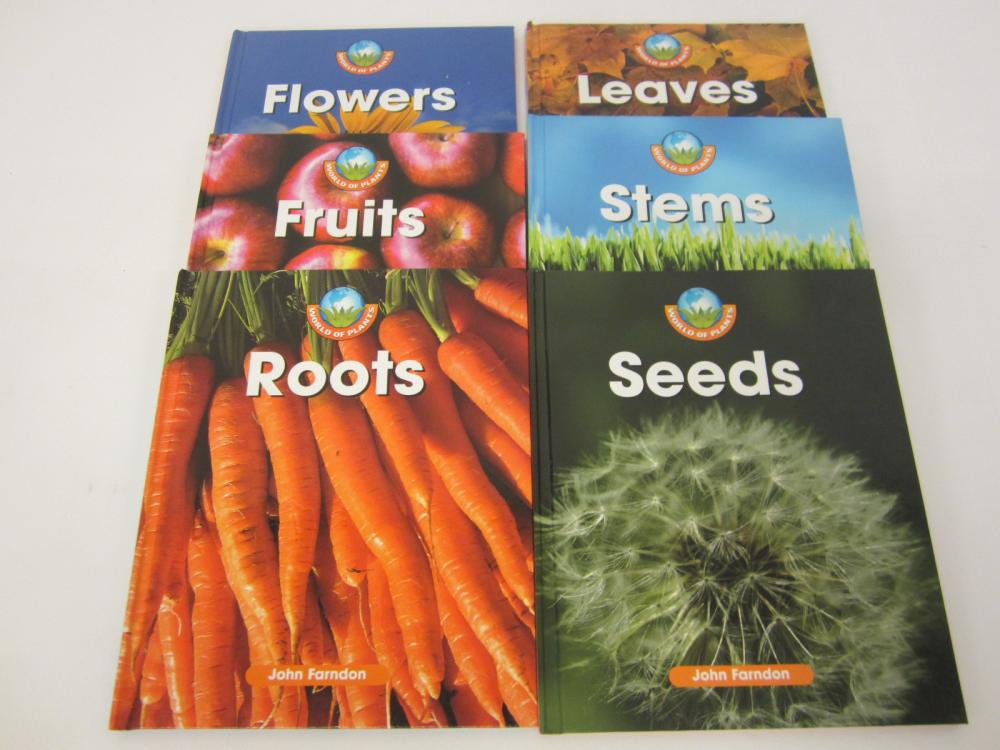 (6) Flowers Roots Fruits Leaves Stems & Seeds Gardening book lot