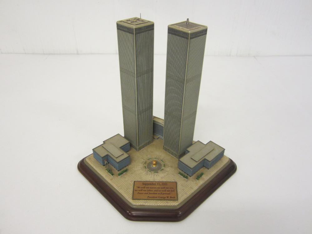 President George Bush Twin Towers New York 9-11 Danbury Mint Figurine