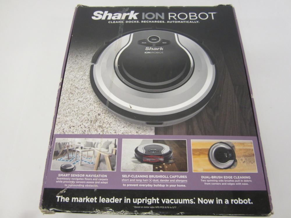 Shark Ion Robot Vacuum automatic docking and charging w/box
