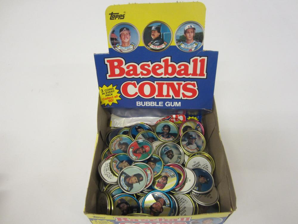 Huge lot of Topps Baseball Player Coins Eddie Murray Kirby Puckett Tony Gwynn +others