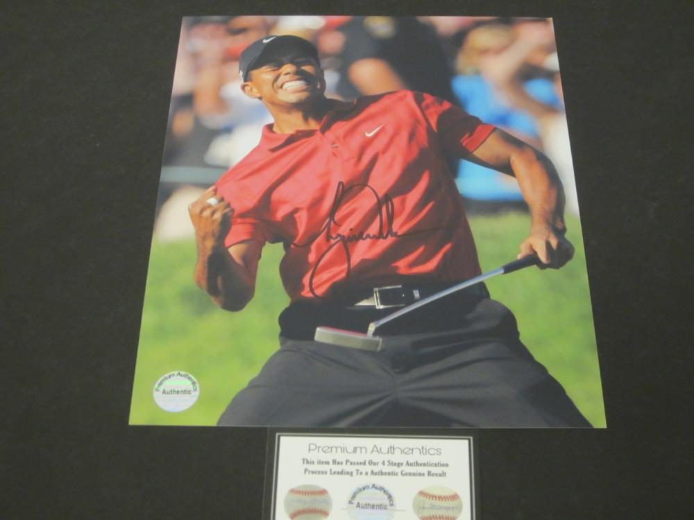 Tiger Woods Signed Autographed 8x10 photo Certified Coa