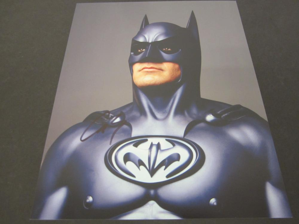 "George Clooney ""Batman"" Signed Autographed 8x10 Photo Certified Coa"