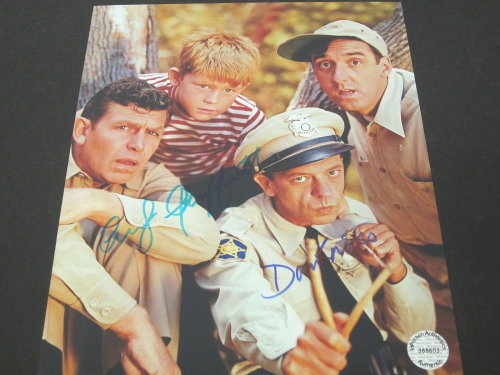 Andy Griffith Don Knotts Signed Autographed 8x10 photo Certified Coa