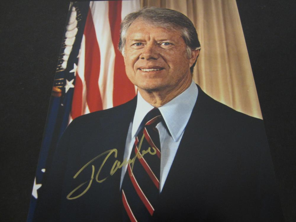 Jimmy Carter President POTUS Signed Autographed 8x10 photo Certified Coa