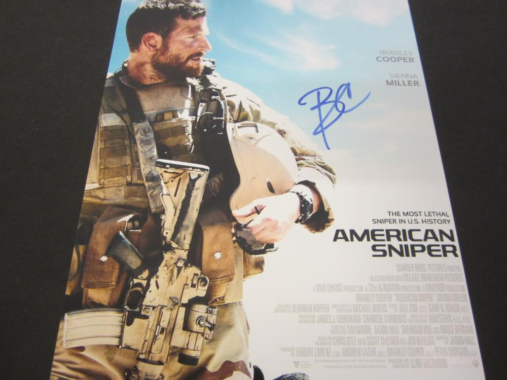 "Bradley Cooper ""American Sniper"" Signed Autographed 8x10 photo Certified Coa"