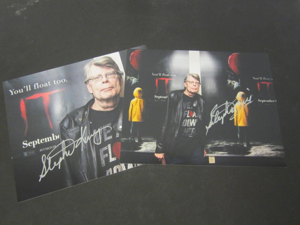 "(2) Stephen King ""IT"" Signed Autographed 8x10 photo Certified Coa"