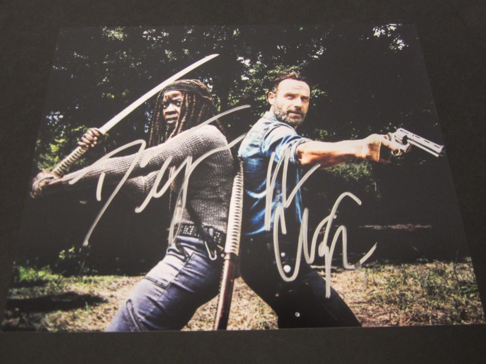 "Danai Gurira Andrew Lincoln ""Walking Dead"" Signed 8x10 photo Certified Coa"
