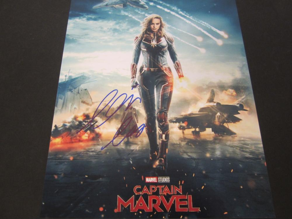 "Brie Larson ""Captain Marvel"" Signed Autographed 8x10 photo Certified Coa"