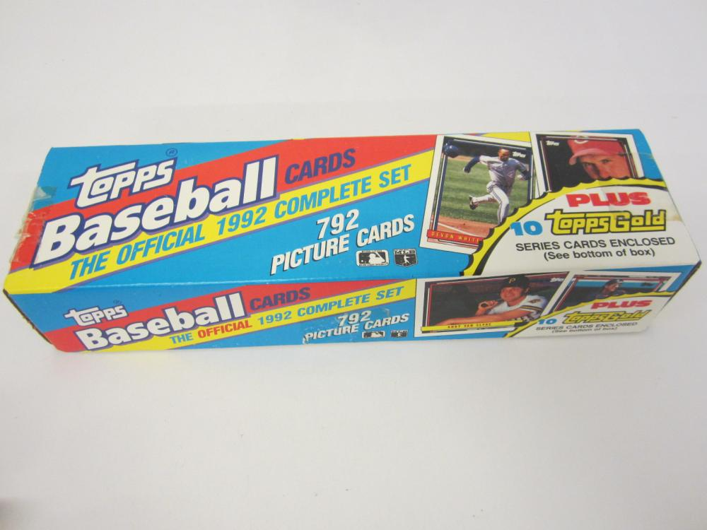 1992 Topps baseball sealed factory set plus 10 gold cards