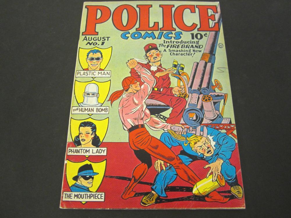 Police Comics No 1 10 Cent (1941) Comic Book Special Edition Reprint