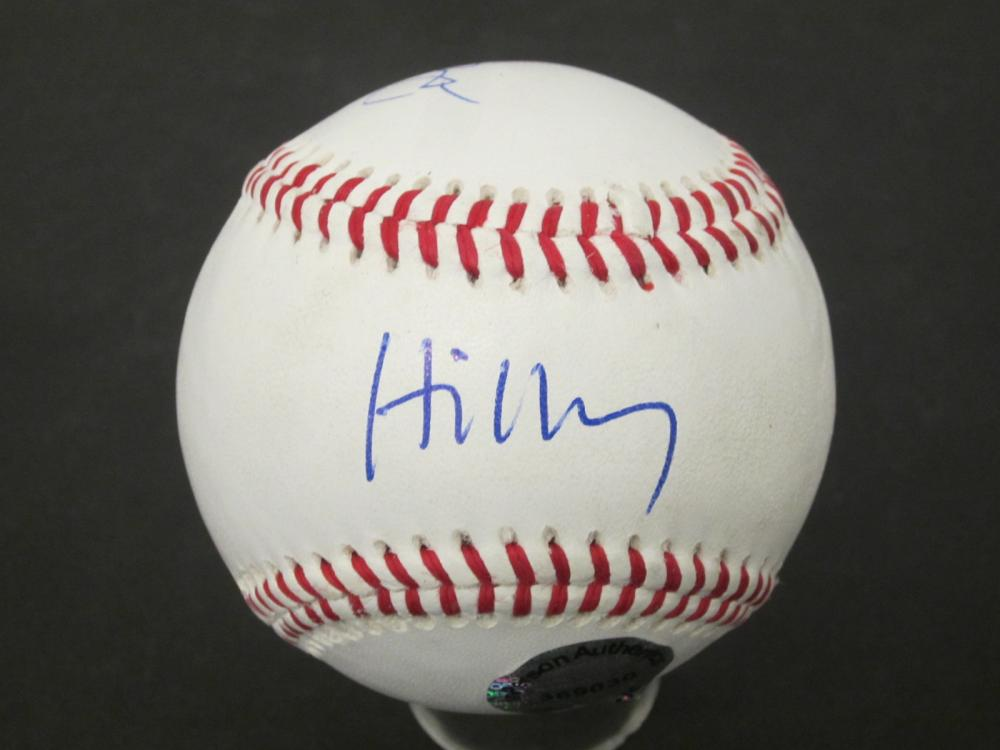 Bill & Hillary Clinton Dual Signed Autographed baseball Certified Coa