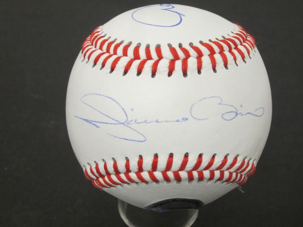 Mariano Rivera Derek Jeter Yankees Signed Autographed Rawlings baseball Certified Coa
